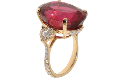 Rubellite and Diamond Ring f9b12dd9ef6